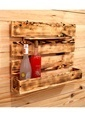 Oldwooddesign Doğal Şaraplık Raf Renkli
